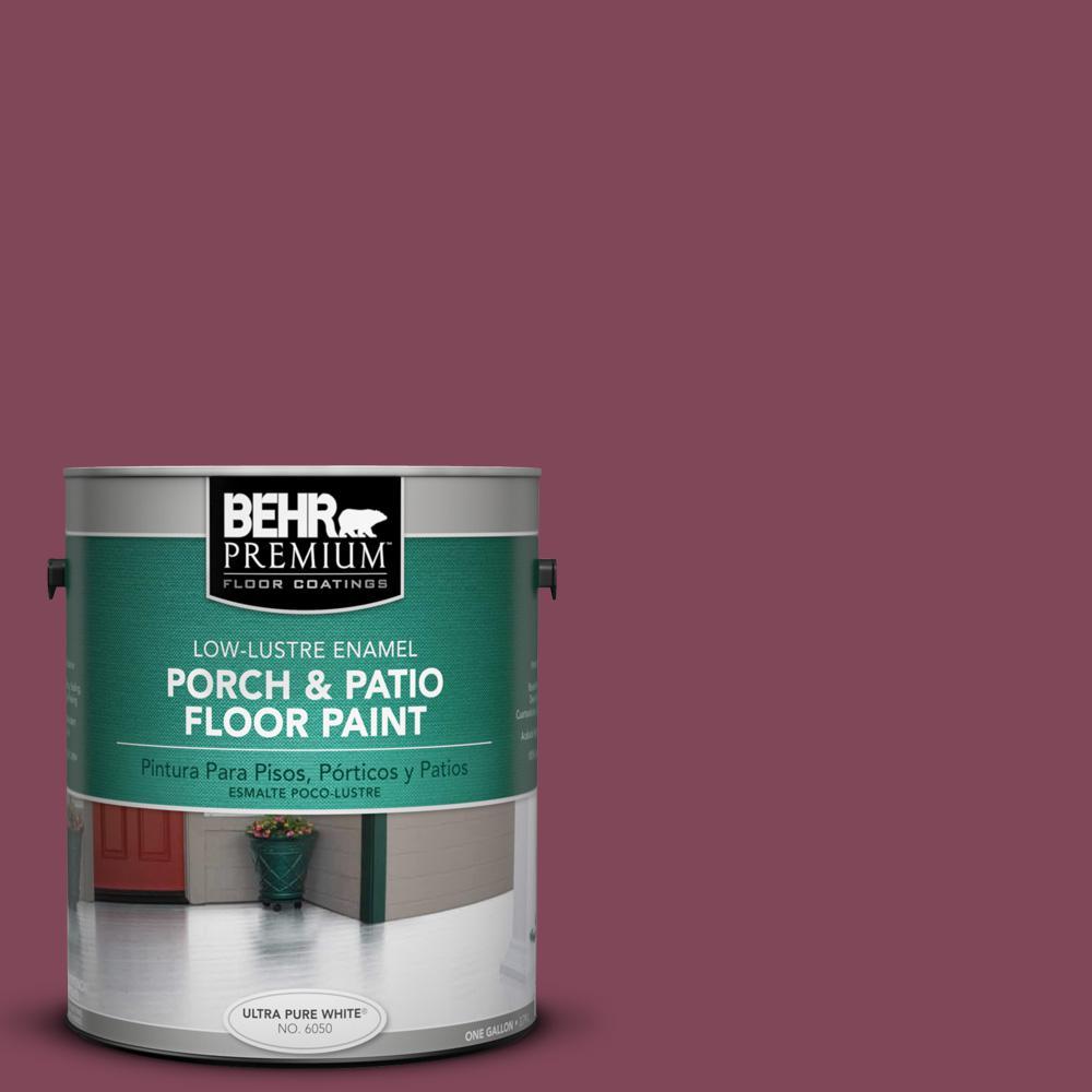 1 gal. Home Decorators Collection #HDC-CL-02 Fine Burgundy Low-Lustre Interior/Exterior Porch and Patio Floor Paint
