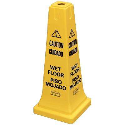 25 in. Multi-Lingual Caution Wet Floor Safety Cone
