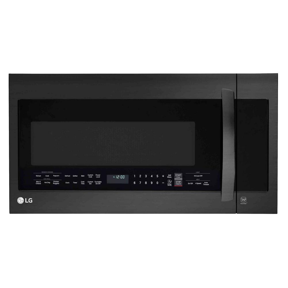 Lg Electronics 2 0 Cu Ft Over The Range Microwave Oven In Matte Black Stainless