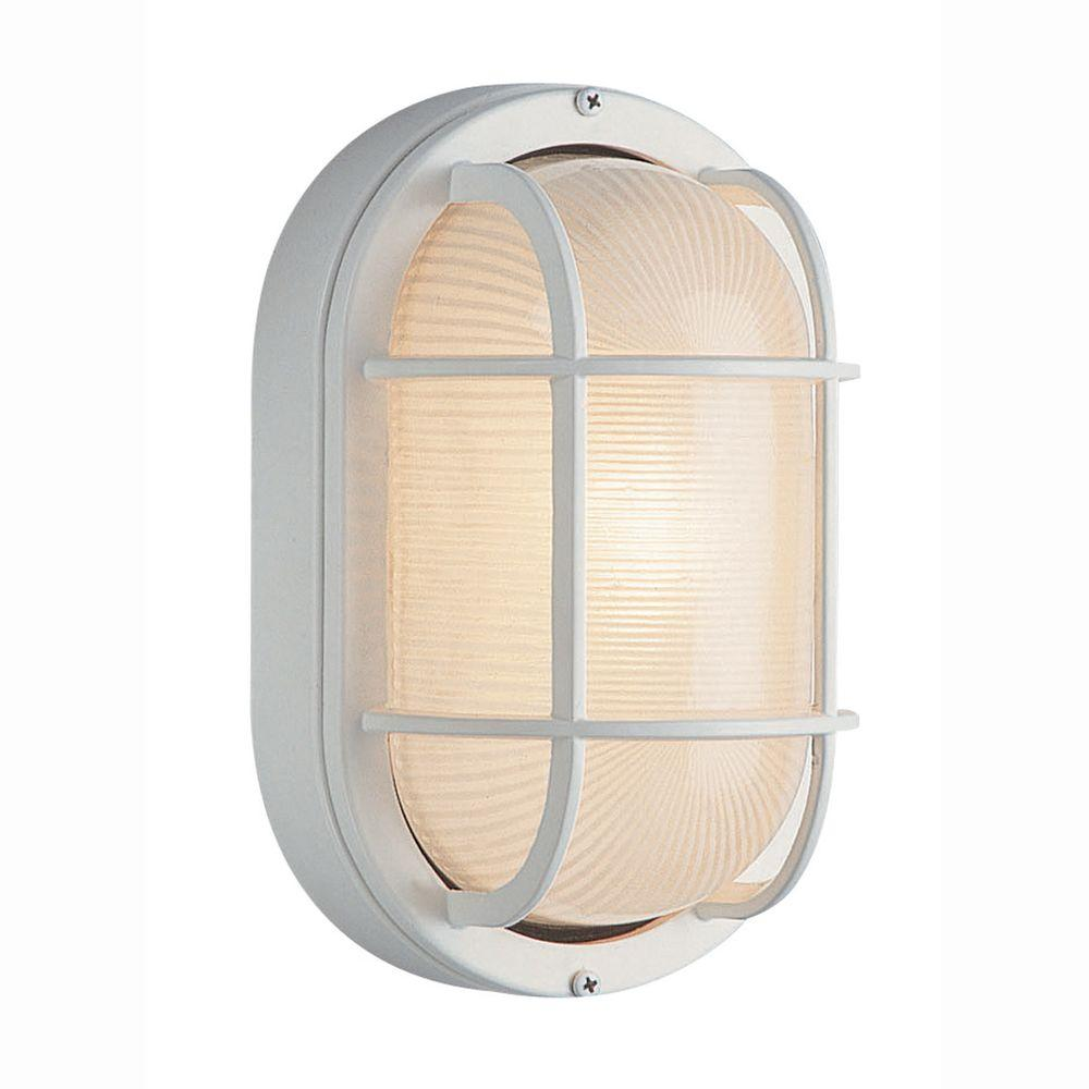 Newport Coastal In White Outdoor Incandescent Nautical Flushmount 7971 02w The Home Depot
