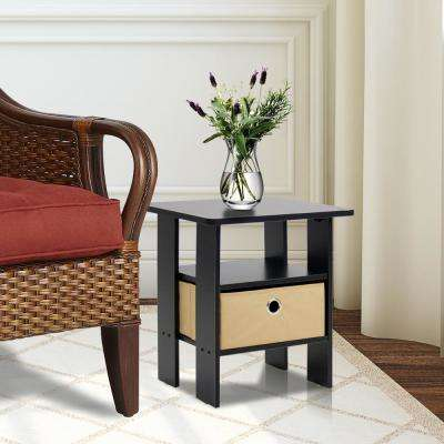 Espresso Brown Storage End Table