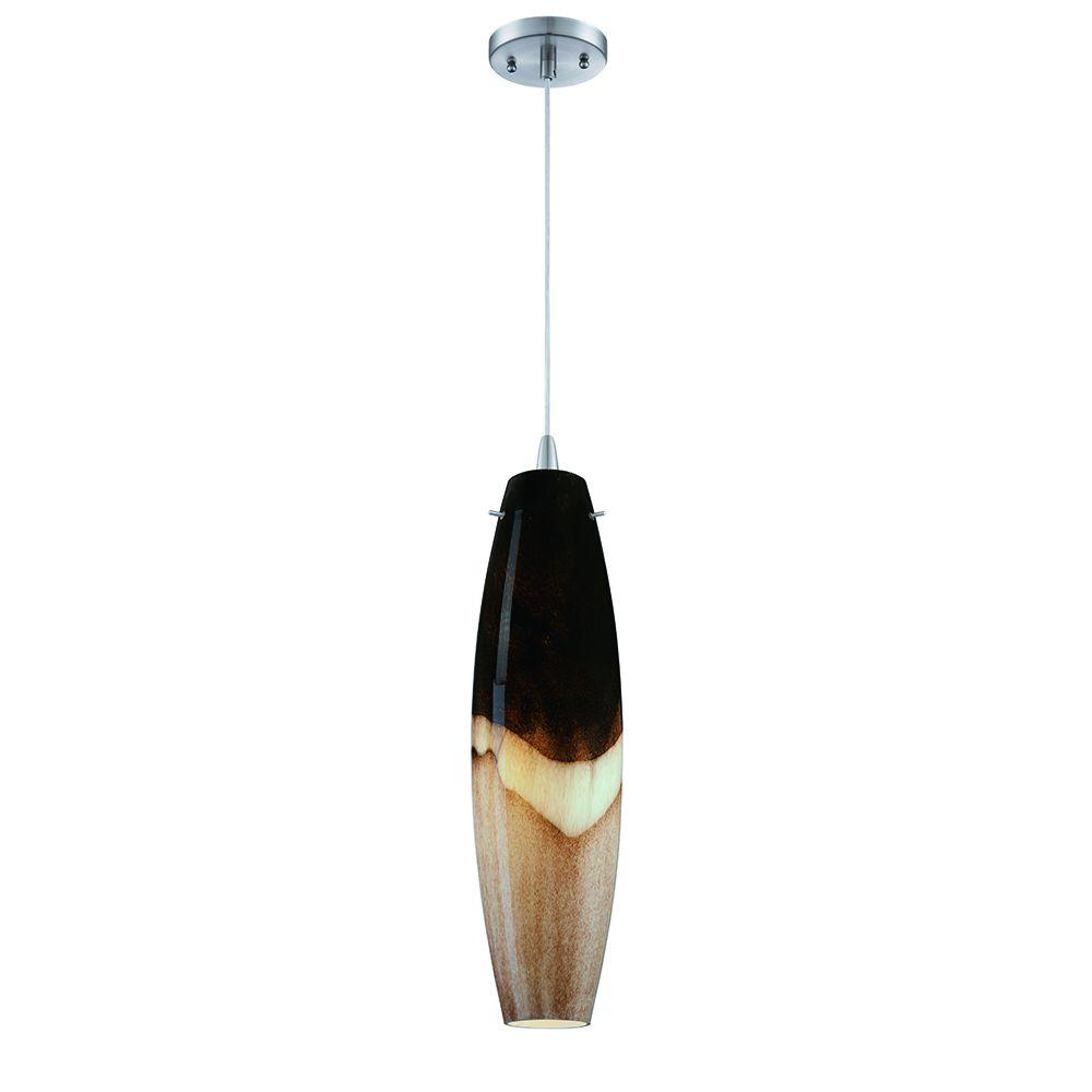 Philips Mojave 1-Light Satin Nickel LED Hanging Pendant