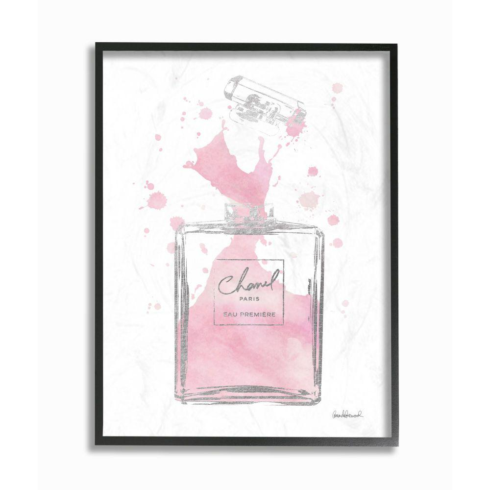 Stupell Industries 11 In X14 In Fashion Designer Pink Silver Perfume Watercolor By Amanda Greenwoodframed Wall Art Agp 255 Fr 11x14 The Home Depot