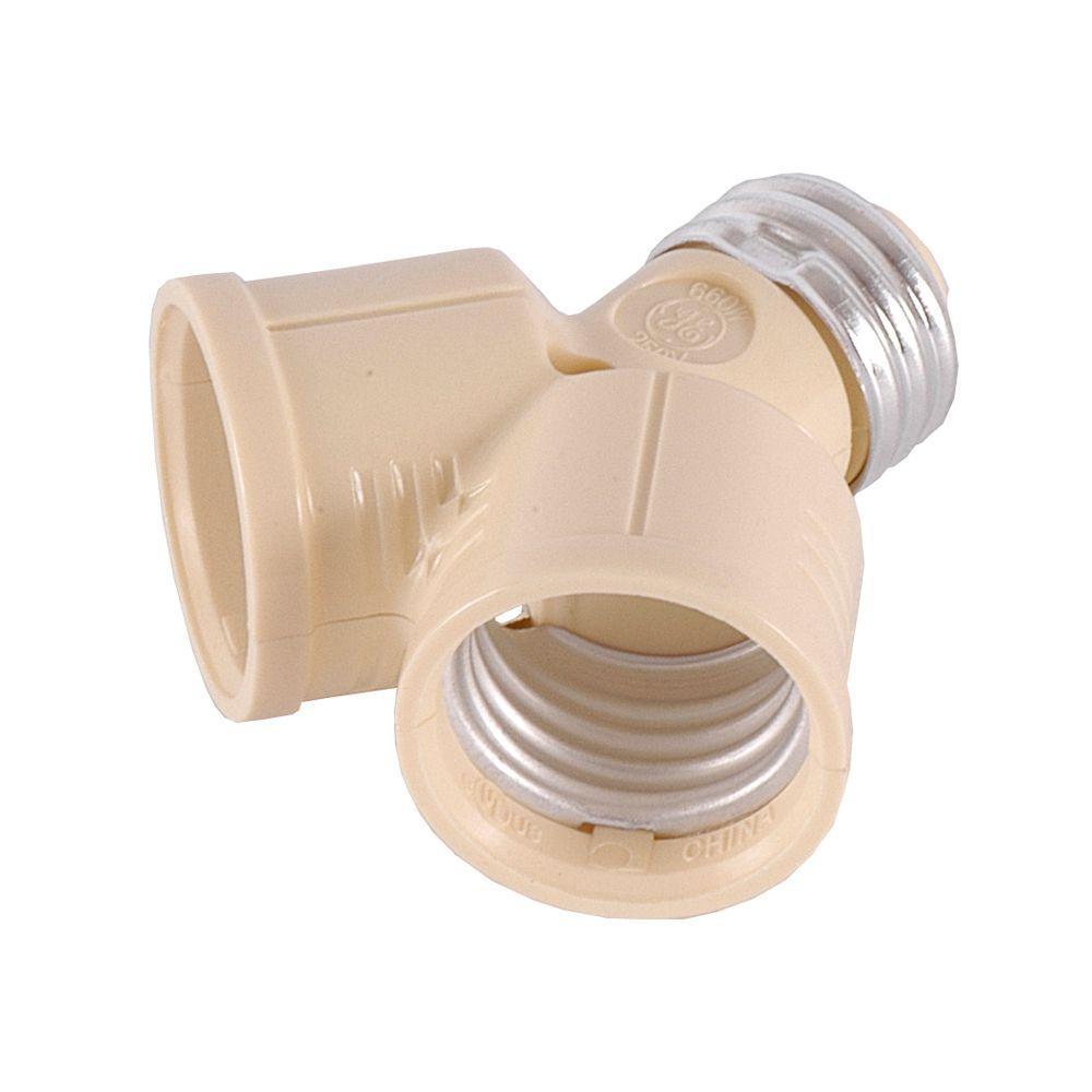 2-Socket Adapter, Ivory