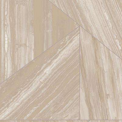 Modern Travertine Stone Neutral 13.2 ft. Wide x Your Choice Length Residential/Commercial Vinyl Sheet