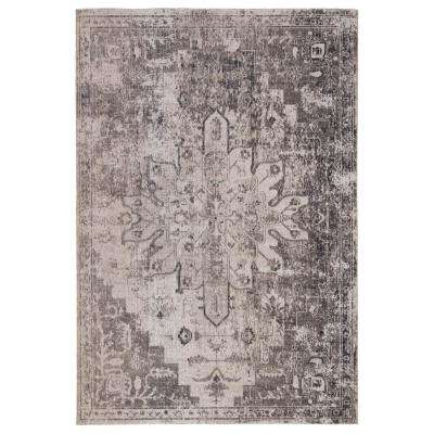 Polaris Gray 7 ft. 6 in. x 9 ft. 6 in. Medallion Rectangle Area Rug
