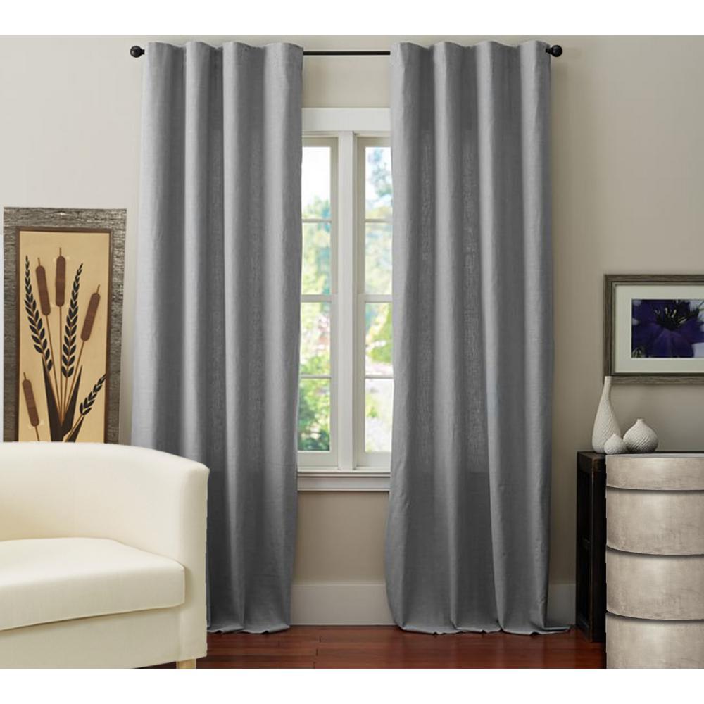 Linen Drape in Grey - 50 in. x 84 in.