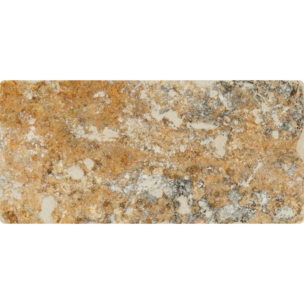 Msi Tuscany Scabas 3 In X 6 In Tumbled Travertine Floor And Wall