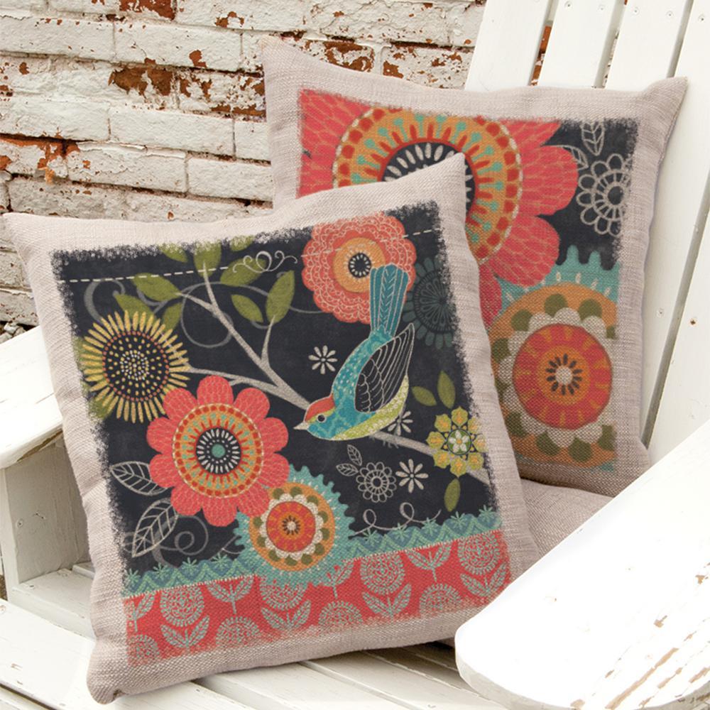 Happy Day Oyster Bird Right Bird Decorative Pillow