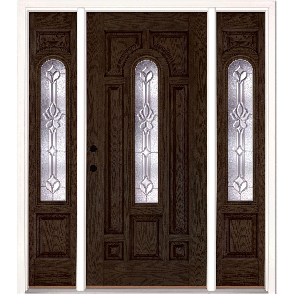 Fresh Prefinished Fiberglass Entry Door