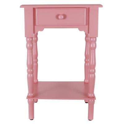 Coral Pink Side Accent Table