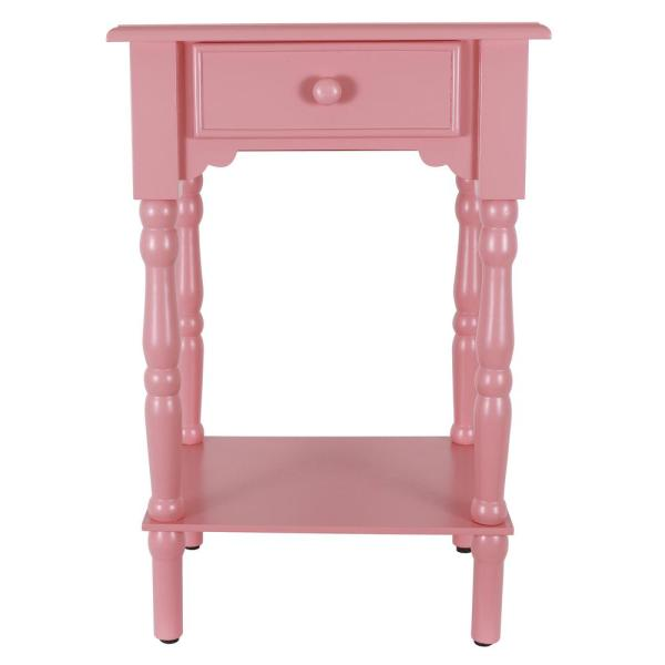 C Pink Side Accent Table By Decor Therapy