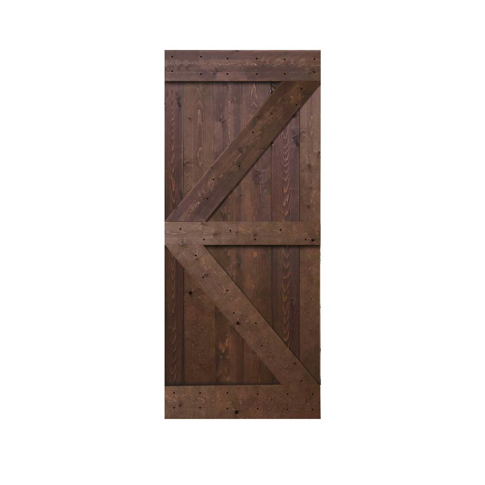 36 in. x 84 in. Knotty Pine Solid Wood Interior Barn