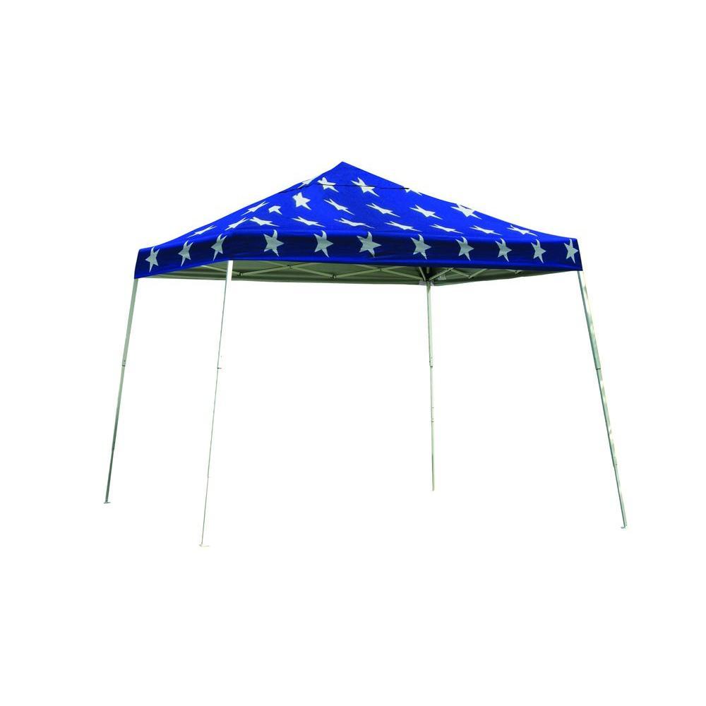 ShelterLogic Super Star 12 ft. x 12 ft. Pop Up Canopy Black Roller Bag