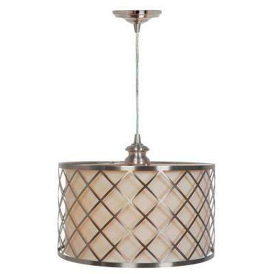 Paula 1-Light Hardwire Brushed Nickel Pendant with ...  sc 1 st  The Home Depot & Brushed Nickel - Pendant Lights - Lighting - The Home Depot azcodes.com