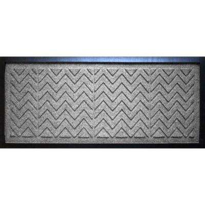 Medium Gray 15 in. x 36 in. x 0.5 in. Chevron Boot Tray