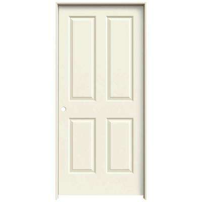 36 in. x 80 in. Coventry Vanilla Painted Right-Hand Smooth Molded Composite MDF Single Prehung Interior Door