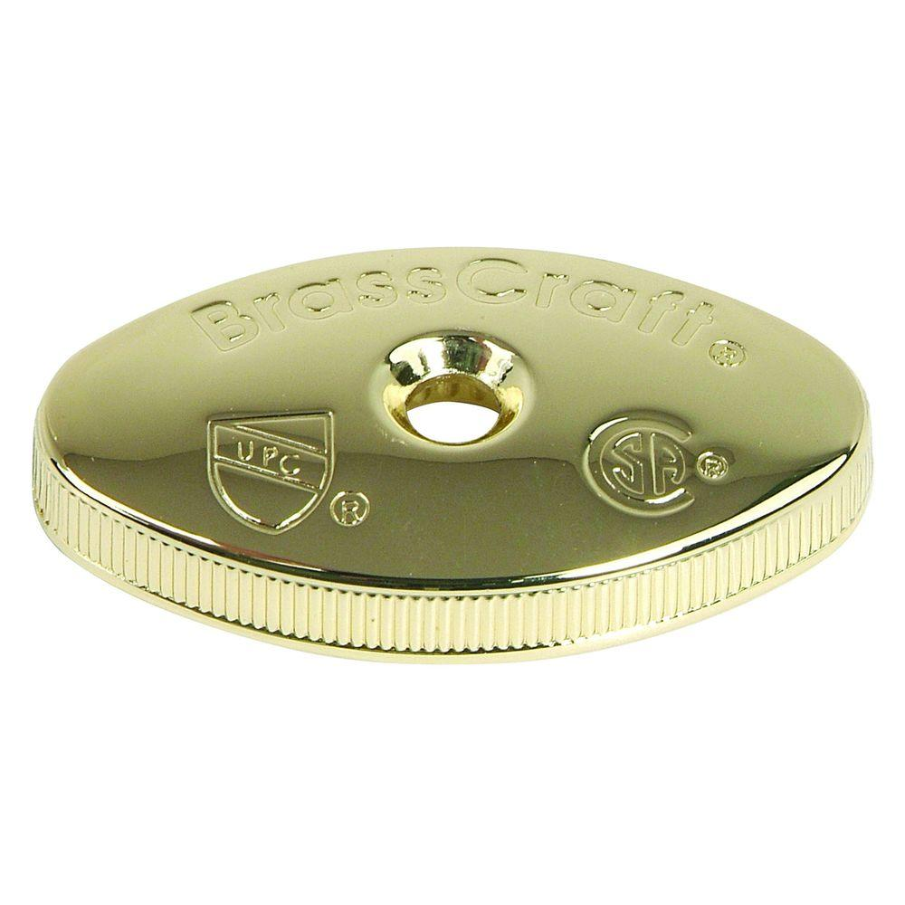 Replacement Oval Handle for Multi-Turn Valve in Polished Brass