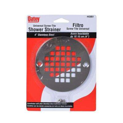 Oatey 4 in. Round Universal Screw-in Shower Strainer in Stainless Steel