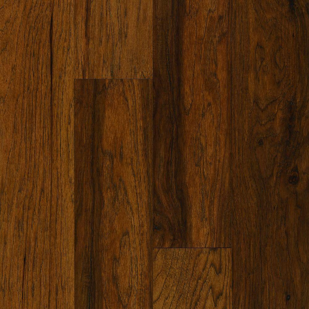 Bruce frontier shadow hickory 3 4 in thick x 3 1 4 in for Solid hardwood flooring