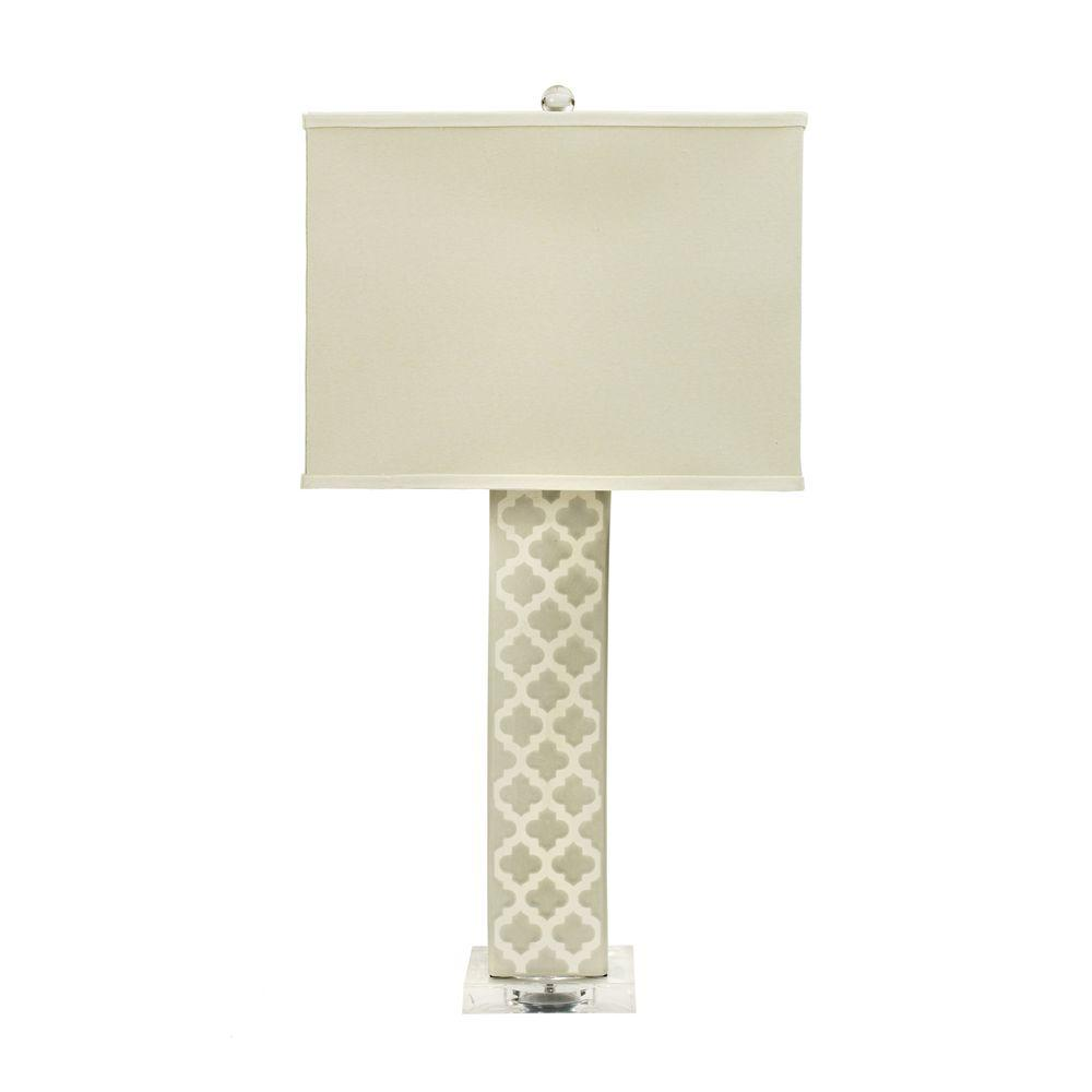 Fangio lighting 32 in coventry crackle ceramic table lamp moroccan coventry crackle ceramic table lamp moroccan trellis 1 sided aloadofball Images