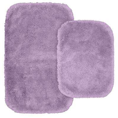 Finest Luxury 2 Piece Washable Bathroom Rug Set in Purple