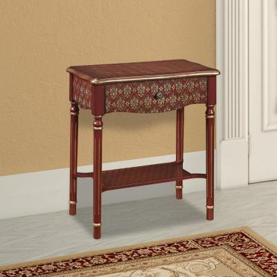 Red Storage Console Table