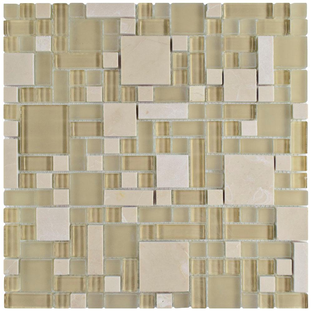 Merola Tile Tessera Versailles Sandstone 11-3/4 in. x 11-...
