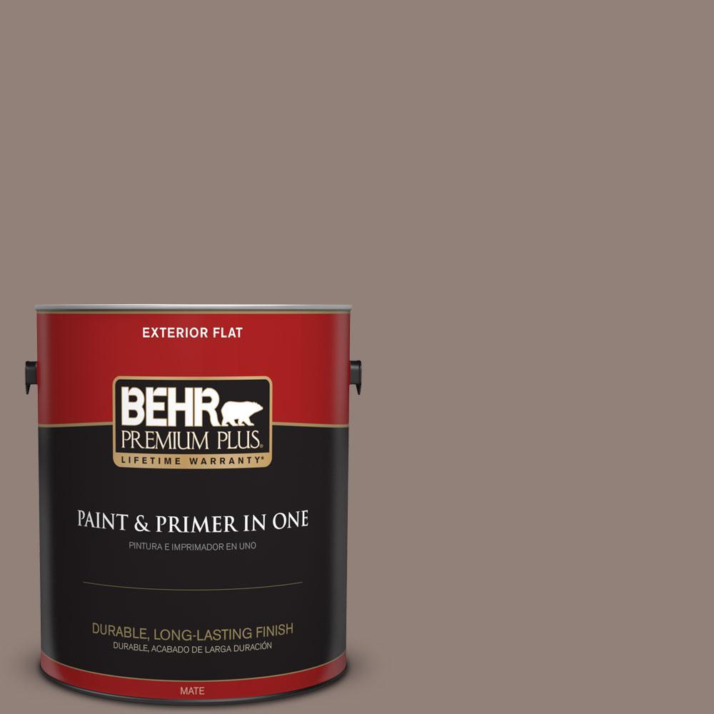 1-gal. #BNC-22 Chocolate Chiffon Flat Exterior Paint