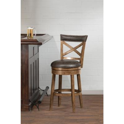 Glen Cove 26 in. Pine Swivel Counter Stool
