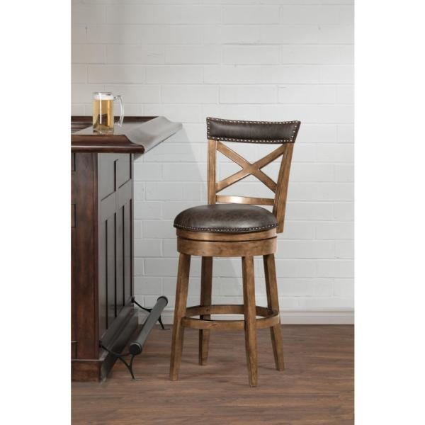 Hillsdale Furniture Glen Cove 26 in. Pine Swivel Counter Stool 4790-826