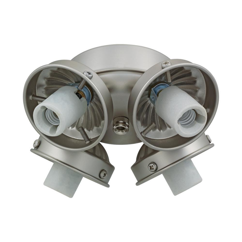 4-Light Brushed Pewter Fitter Ceiling Fan Light