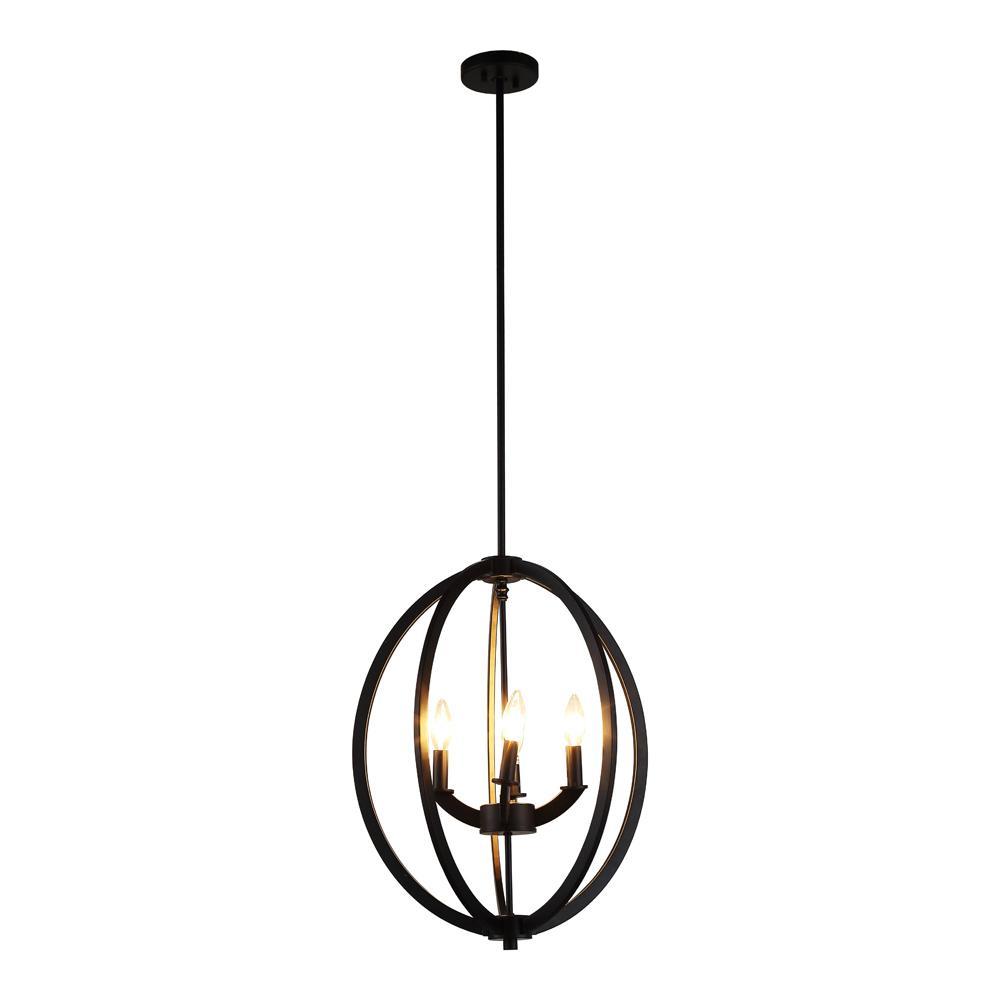 Black mediterranean cage chandeliers lighting the home depot dura 4 light black chandelier aloadofball Images