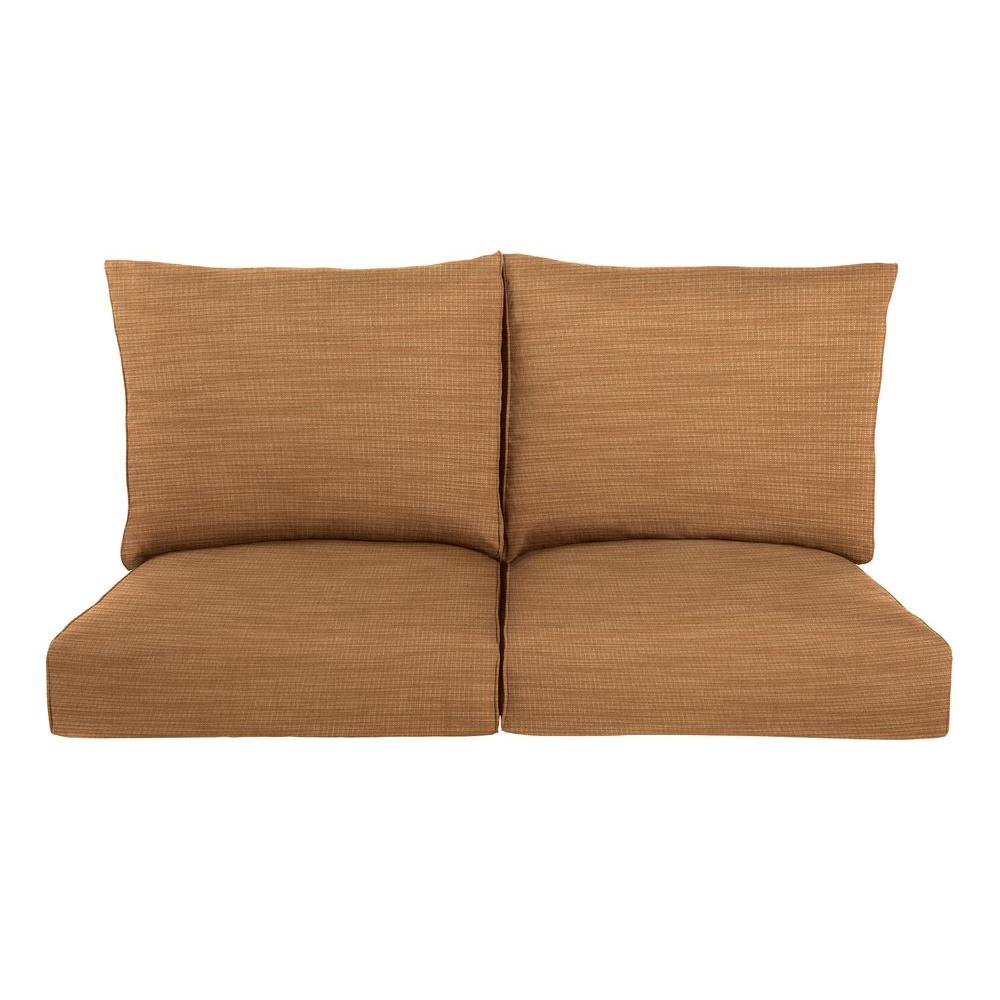 Brown Jordan Highland Replacement Outdoor Loveseat Cushion in Toffee