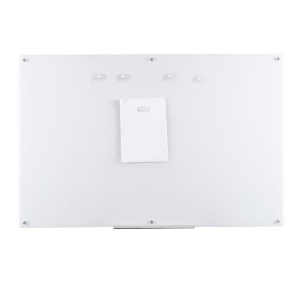Eddington 39 in. x 59 in. Magnetic Glass Dry Erase Board in White