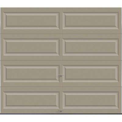 Classic Collection 8 ft. x 7 ft. 12.9 R-Value Intellicore Insulated Solid Sandstone Garage Door with Exceptional