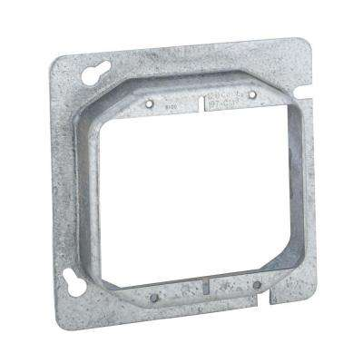 4-11/16 in. Square Two Device Mud Ring, Raised 1 in. (25-Pack)
