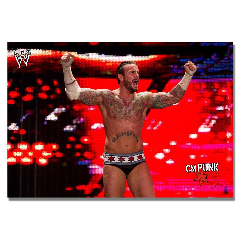 Trademark Fine Art 16 in. x 24 in. Officially Licensed WWE CM Punk I Canvas Art-DISCONTINUED