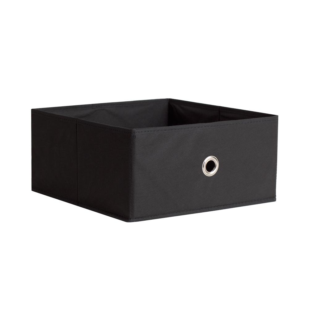 6-Pack Black Basics Foldable Storage Bins Cubes Organizer