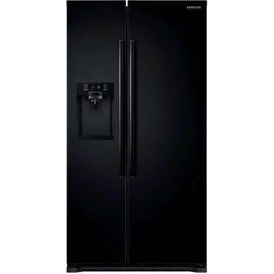 22.3 cu. ft. Side by Side Refrigerator in Black, Counter Depth