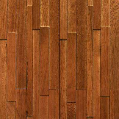 Take Home Sample - Deco Strips Saddle Engineered Hardwood Wall Strips - 5 in. x 7 in.