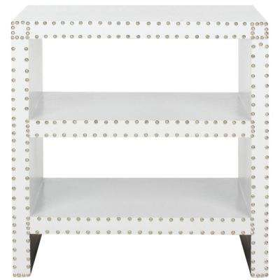 Lacey White Croc Side Table