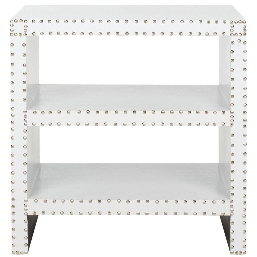 Safavieh Lacey White Croc Side Table FOX9502C