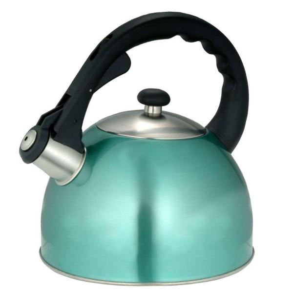 Creative Home Satin Splendor 11.2-Cup Stovetop Tea Kettle in Aqua 77007