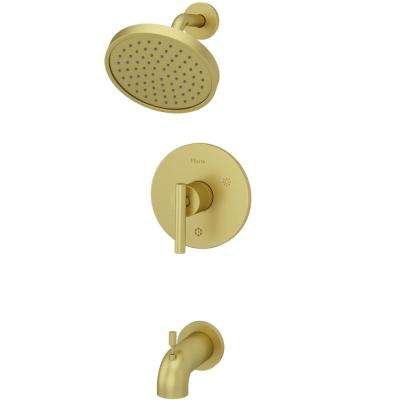 Contempra 1-Handle Tub and Shower Faucet Trim Kit in Brushed Gold (Valve Not Included)