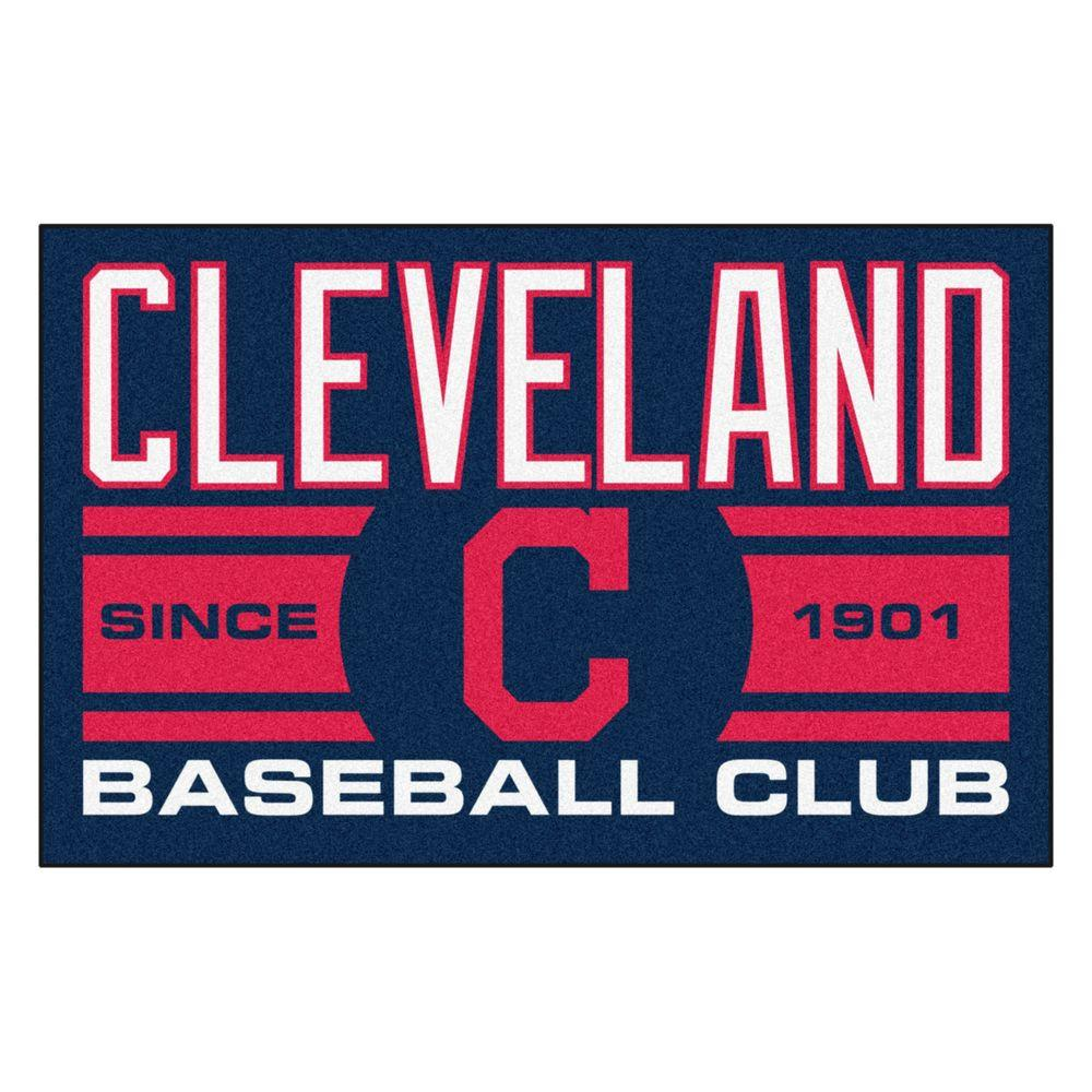 Fanmats Mlb Cleveland Indians Navy Blue 2 Ft X 3 Area Rug