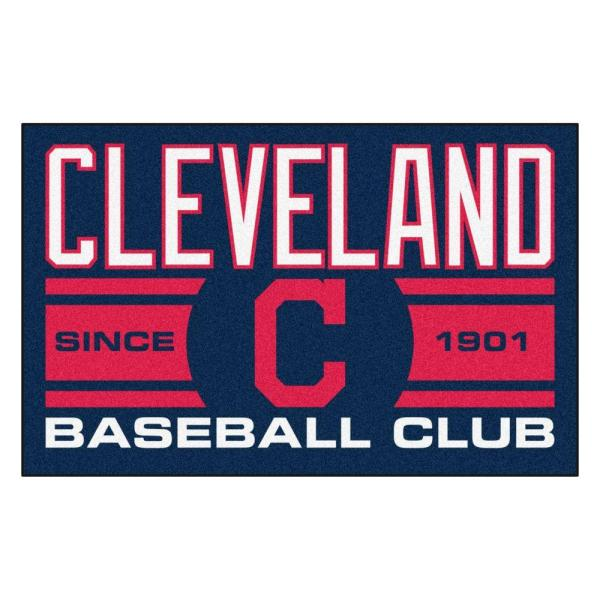 MLB Cleveland Indians Navy Blue 2 ft. x 3 ft. Area Rug