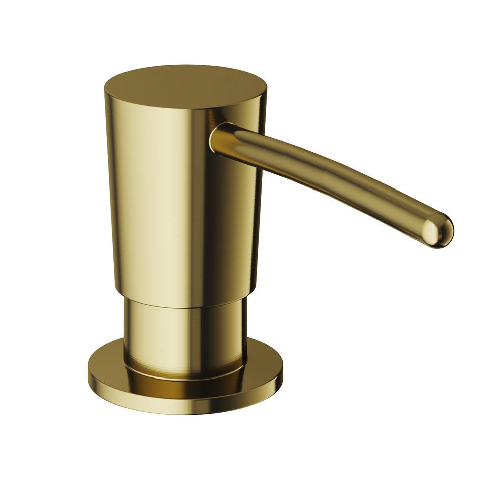 vigo 10 oz. kitchen soap dispenser in matte brushed gold