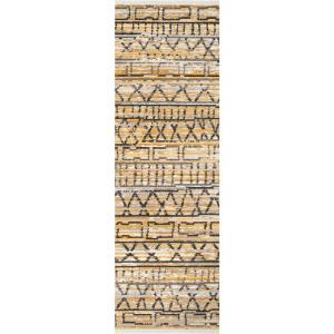 Maisie Banded Tribal Beige 2 ft. 6 in. x 8 ft. Runner