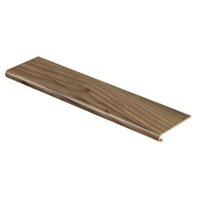Weathered Stock Chestnut 94 in. Length x 12-1/8 in. Deep x 1-11/16 in. Height Vinyl Overlay to Cover Stairs 1 in. Thick